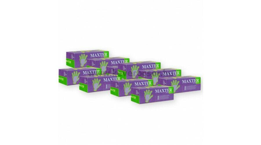 10 doboz Maxter púderes kesztyű (=10x100 db) L méretben