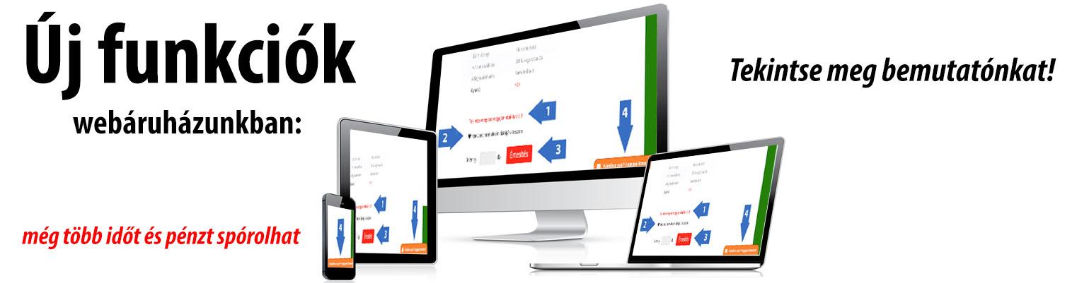 Új funkciók webáruházunkban